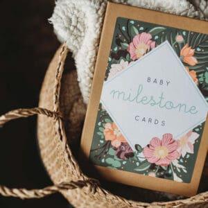 Botanical baby milestone cards by wildwood paper