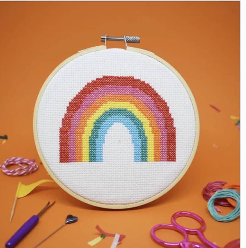Super Rainbow Cross Stitch Kit by The Make Arcade