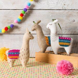 Llamas Felt Craft Kit by Corinne Lapierre