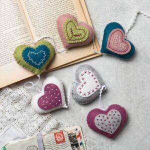 Vintage Heart Garland Felt Kit by Corinne Lapierre