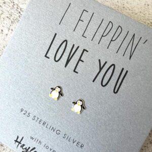 Penguin charm earrings by hayley & co