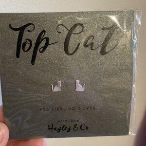 Cat Sterling Silver Earrings by Hayley & Co