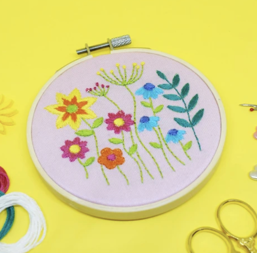 Meadow Flower Embroidery Kit by The Make Arcade