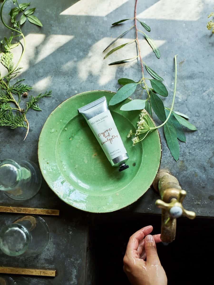 Cypress & Eucalyptus Hand Cream Tube by Plum & Ashby