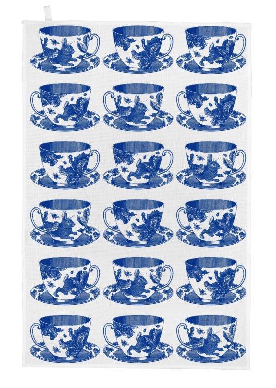 Teacup tea towel by thornback & peel