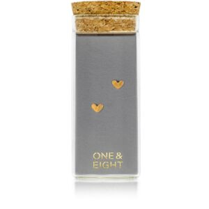 Gold Tiny Heart Studs by One and Eight Jewellery