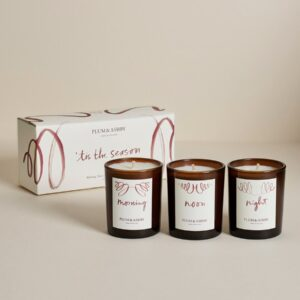 Christmas Morning, Noon & Night Votive Candle Gift Set by Plum & Ashby